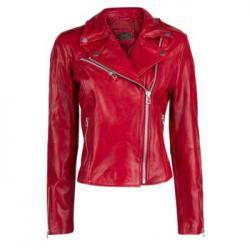 Кожаная куртка Mango Красная